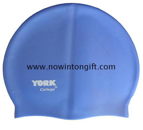 Imprint silicone swimming caps