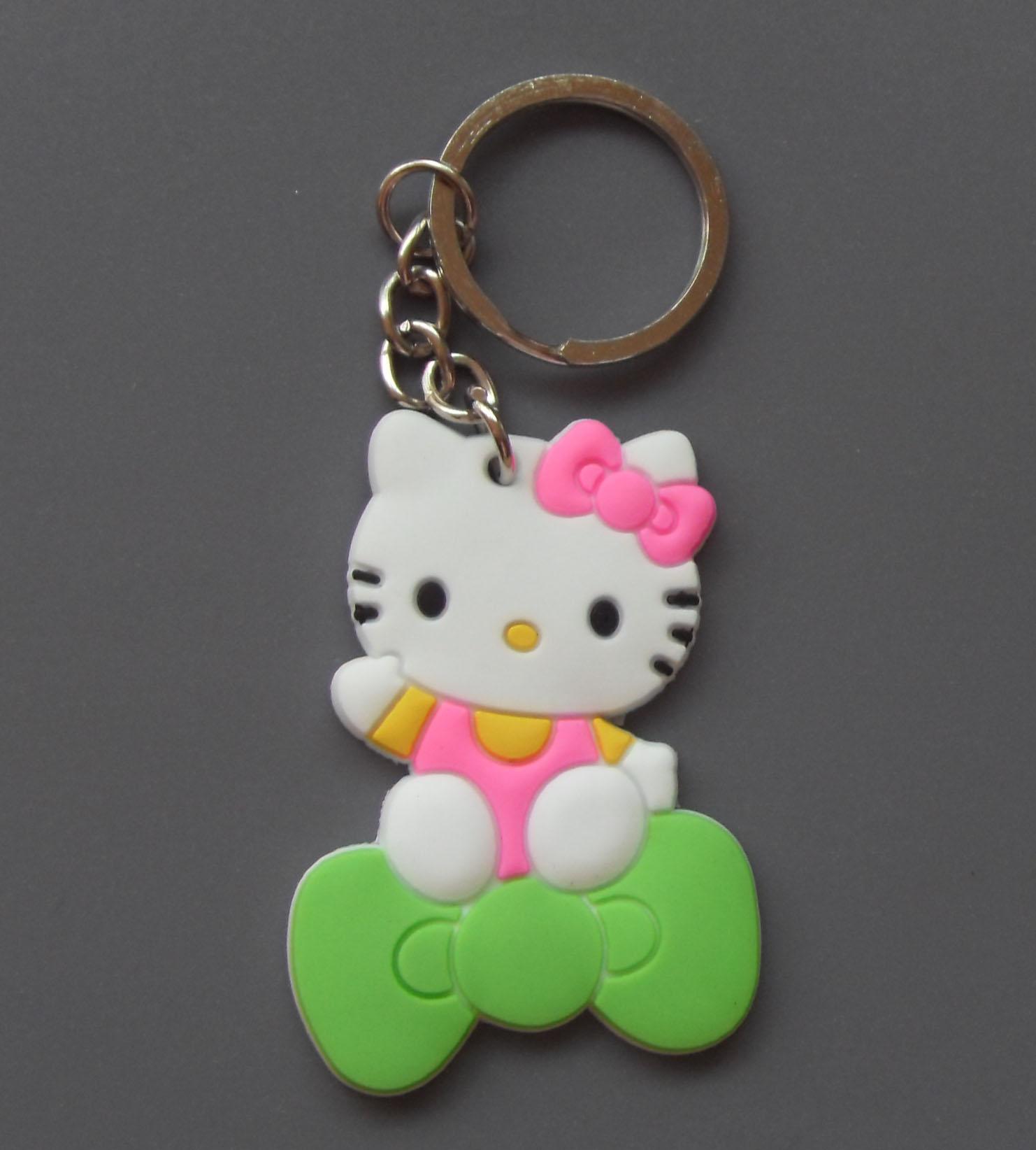 Hello kitty Soft pvc keyrings