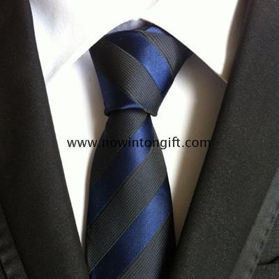 Stripe Polyester necktie