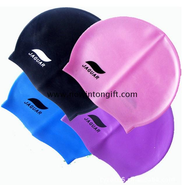 Silicone swimming caps