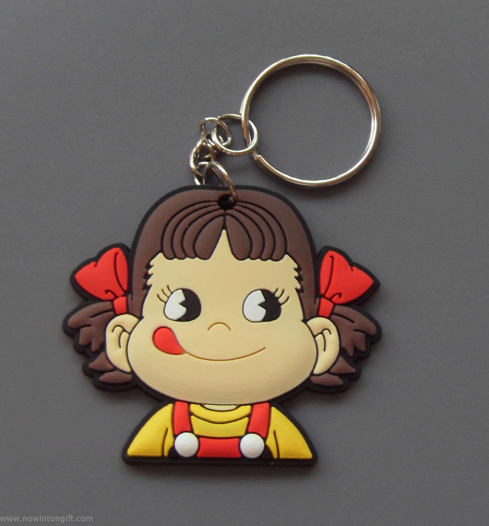 milky Girl 2D pvc keychains