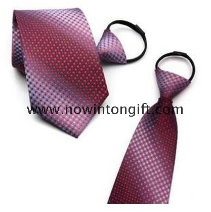 Fabric Polyester necktie with zipper