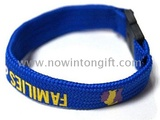 Hollow screen print custom    cloth wristbands