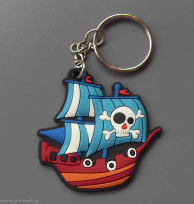 pirate ships/skull rubber keychains